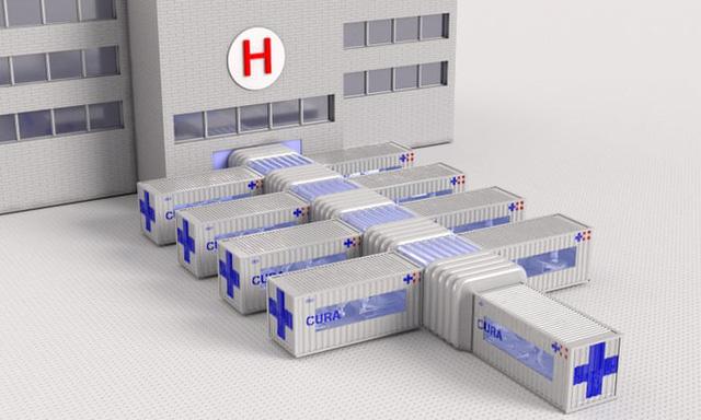 Thiết kế biến container thành bệnh viện điều trị COVID-19 - Ảnh 1.