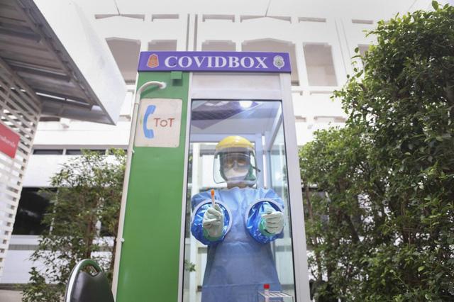 Thái Lan lắp đặt Hộp COVID để bảo vệ nhân viên y tế - Ảnh 1.