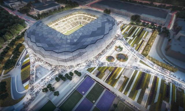 Qatar ra mắt sân vận động mới phục vụ World Cup 2022 - Ảnh 1.