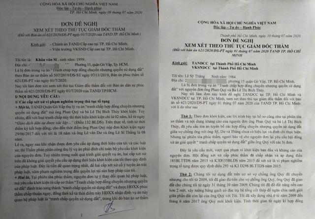 3 bị đơn vụ đương sự định nhảy lầu đồng loạt đề nghị giám đốc thẩm - Ảnh 1.