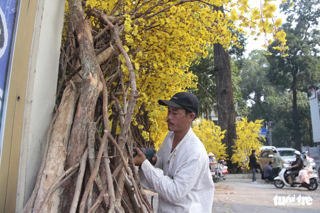 Lễ hội Tết Việt chưa bắt đầu, nhiều bạn gái đã xúng xính váy áo với đường mai - Ảnh 9.