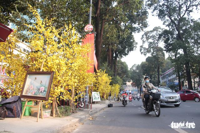Lễ hội Tết Việt chưa bắt đầu, nhiều bạn gái đã xúng xính váy áo với đường mai - Ảnh 14.