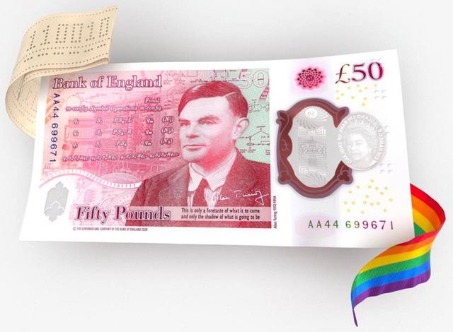 BoE sắp phát hành đồng tiền 50 bảng Anh mới in hình nhà toán học Alan Turing - Ảnh 1.
