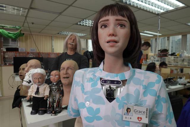 Robot y tá Grace, em gái của công dân robot Sophia - Ảnh 1.
