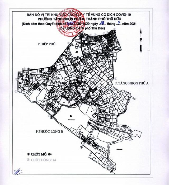 TP Thủ Đức phong tỏa thêm hai phường Tăng Nhơn Phú B và Long Trường - Ảnh 1.