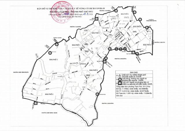 Thành phố Thủ Đức phong tỏa phường Tam Phú với hơn 30.000 dân - Ảnh 1.