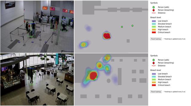 Hệ thống giám sát AI tại sân bay giúp đảm bảo giãn cách xã hội - Ảnh 1.