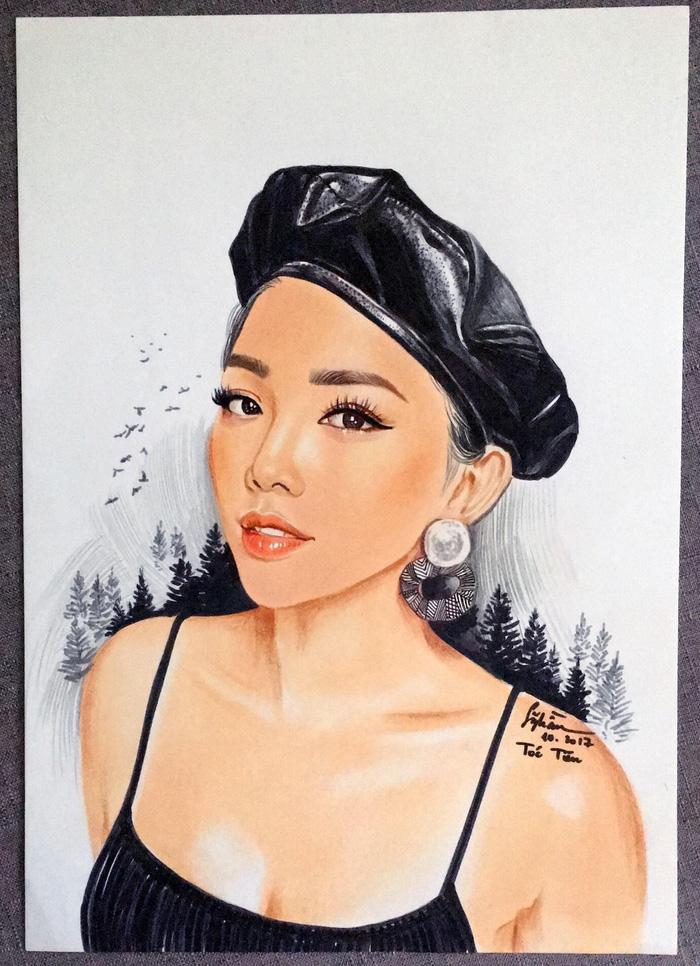 Chàng họa sĩ vẽ chân dung nghệ sĩ Việt sống động như thật - Ảnh 1.