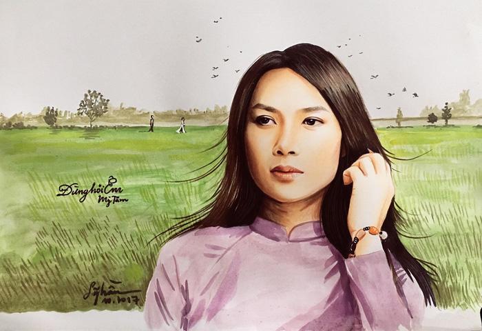 Chàng họa sĩ vẽ chân dung nghệ sĩ Việt sống động như thật - Ảnh 9.