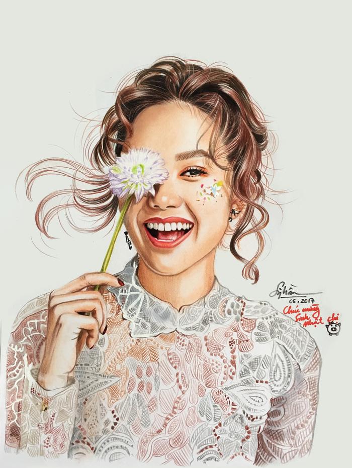 Chàng họa sĩ vẽ chân dung nghệ sĩ Việt sống động như thật - Ảnh 12.