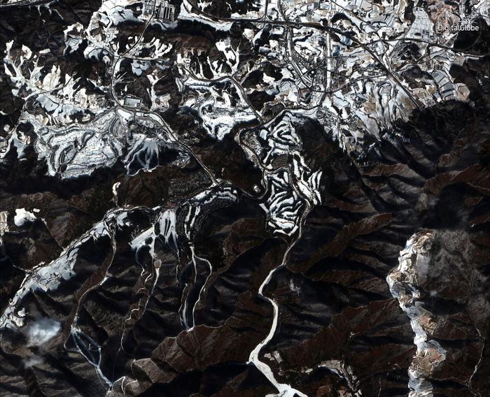 Ngắm ảnh vệ tinh các địa điểm Olympic mùa đông Pyeongchang - Ảnh 3.