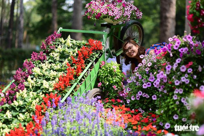 Hội hoa xuân Tao Đàn đã mở cửa đợi khách thưởng hoa - Ảnh 13.