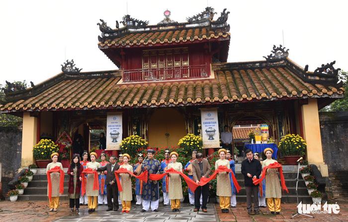 Lễ khai mạc không gian trưng bày Hoàng đế Minh Mạng - Ảnh: VĂN PHÚC
