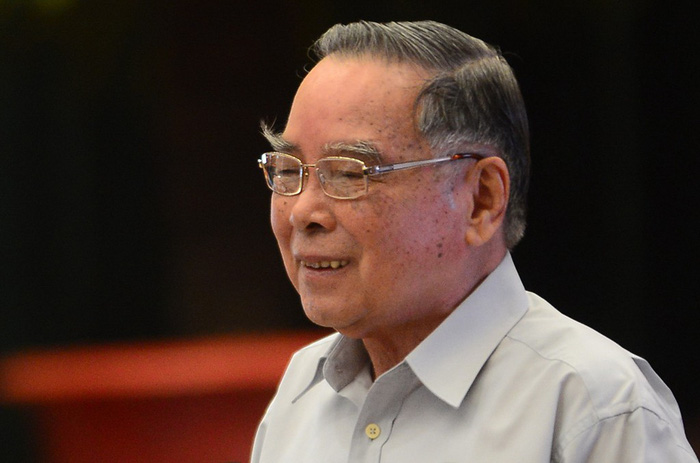 """Nguyên Thủ tướng Phan Văn Khải tại hội thảo khoa học """"Thành phố Hồ Chí Minh - 40 năm xây dựng, phát triển và hội nhập"""" ngày 17-3-2015 - Ảnh: QUANG ĐỊNH"""
