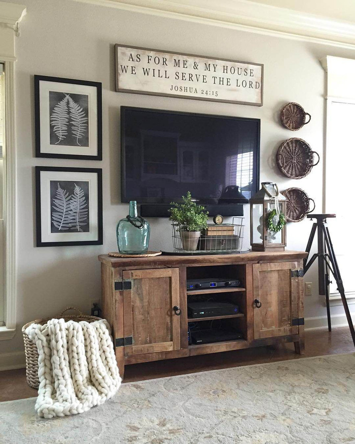 10 kiểu trang trí tivi để phòng khách đẹp hơn - Ảnh 2.