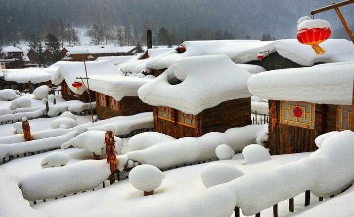 Ngôi làng tuyết trắng đẹp như trong cổ tích ở Cáp Nhĩ Tân - Ảnh 11.