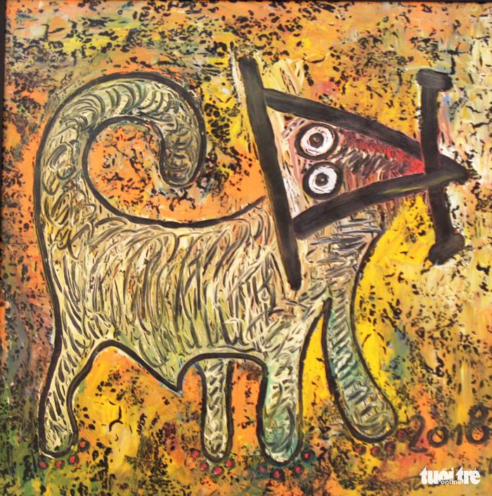Họa sĩ Huế vẽ tranh chó đón năm Tuất - Ảnh 8.