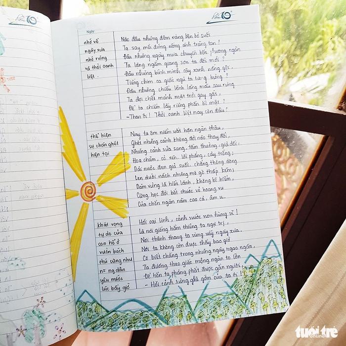 Cuốn tập soạn bài rực rỡ của nữ sinh lớp 8 - Ảnh 11.