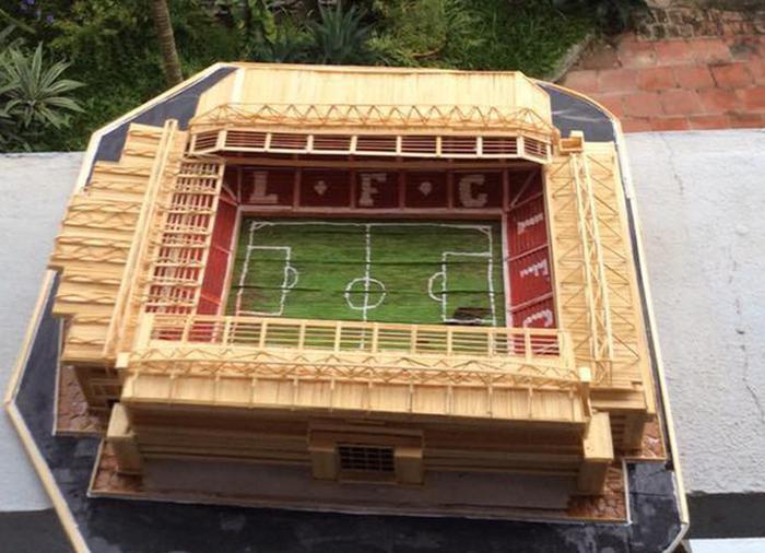 Mù bóng đá vẫn làm mô hình sân vận động tuyệt đẹp - Ảnh 8.