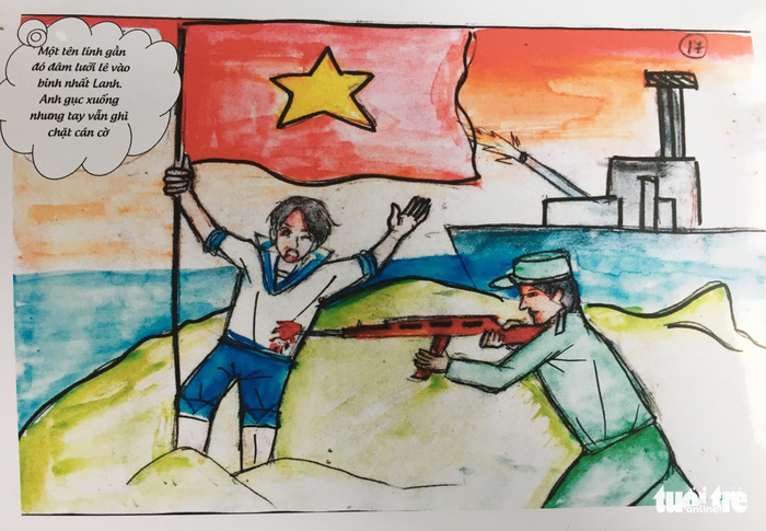 Hai nữ sinh dành bảy tháng vẽ truyện tranh lịch sử về Gạc Ma - ảnh 4