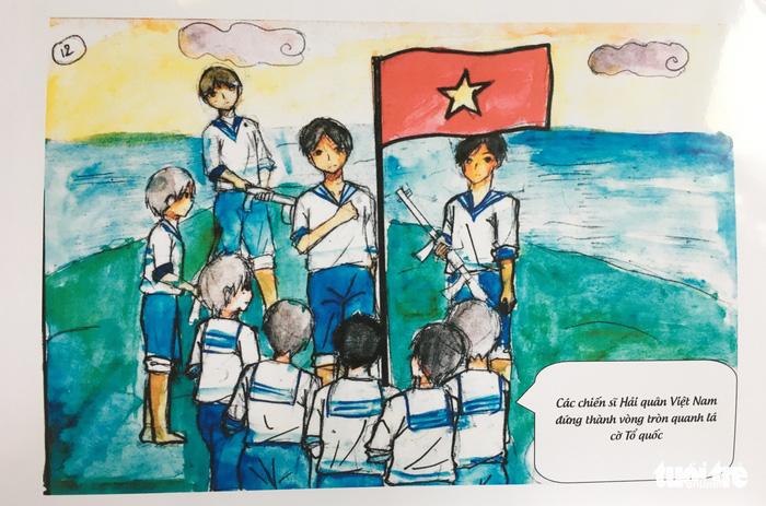 Hai nữ sinh dành bảy tháng vẽ truyện tranh lịch sử về Gạc Ma - ảnh 5