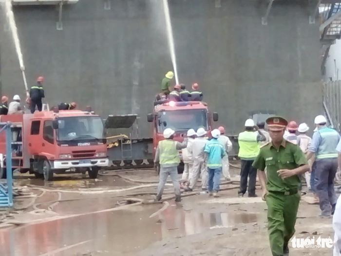 Cháy lớn tại nhiệt điện Duyên Hải 3, cả chục người đu dây thoát thân - Ảnh 5.