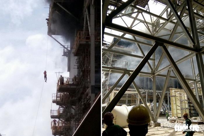 Cháy lớn tại nhiệt điện Duyên Hải 3, cả chục người đu dây thoát thân - Ảnh 1.