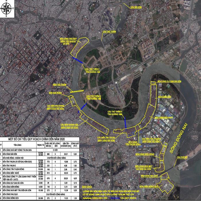 Sẽ di dời toàn bộ bến cảng trên sông Sài Gòn - Ảnh 2.
