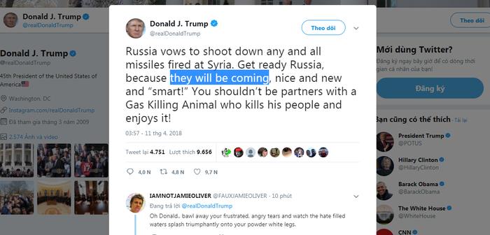 Tổng thống Trump: Nga sẵn sàng đi. Tên lửa Mỹ sẽ tới! - Ảnh 3.