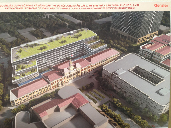 Công bố phương án mở rộng tòa nhà UBND TP.HCM - Ảnh 1.