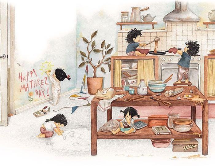 Hạnh phúc gia đình giản dị qua bộ ký họa dễ thương - Ảnh 4.