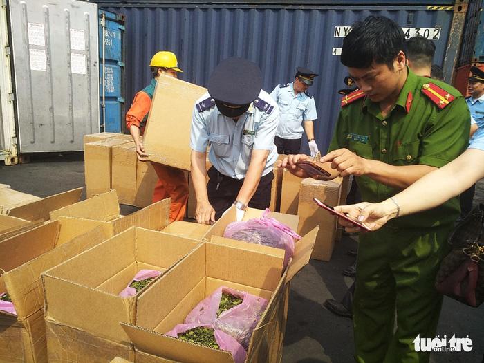 Lại phát hiện 2,5 tấn lá Khát tại cảng Hải Phòng - Ảnh 3.
