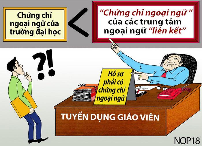Băn khoăn chứng chỉ ngoại ngữ giáo viên - Ảnh 1.