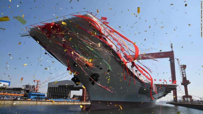 Trung Quốc thử nghiệm tàu sân bay tự đóng trên biển - Ảnh 5.
