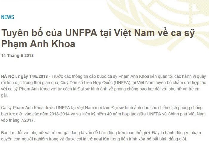 Liên Hiệp Quốc và một số đơn vị chấm dứt hợp tác với Phạm Anh Khoa - Ảnh 1.