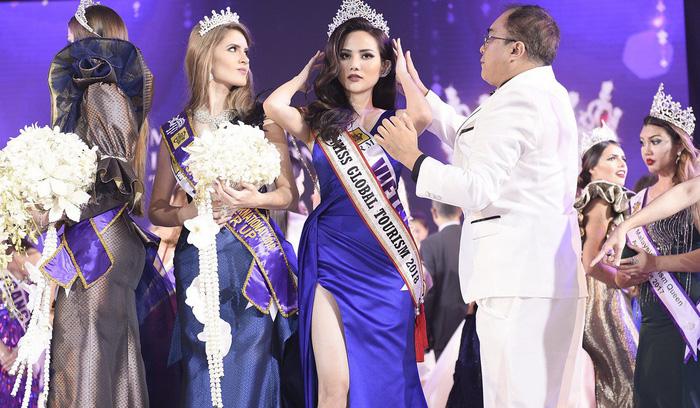 Diệu Linh nhận danh hiệu Người đẹp Du lịch Toàn cầu 2018 - Ảnh 1.