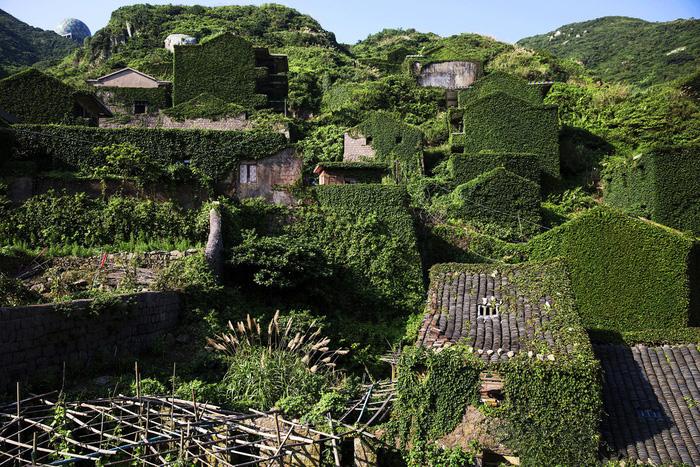 Làng chài phủ thảm thực vật xanh tươi ở Trung Quốc - Ảnh 1.