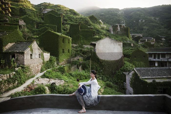 Làng chài phủ thảm thực vật xanh tươi ở Trung Quốc - Ảnh 8.