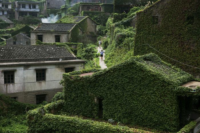 Làng chài phủ thảm thực vật xanh tươi ở Trung Quốc - Ảnh 4.