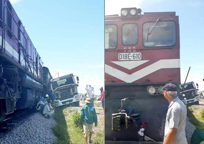 Tai nạn đường sắt thứ 4 trong 4 ngày do xe bồn vượt đường ngang - Ảnh 1.