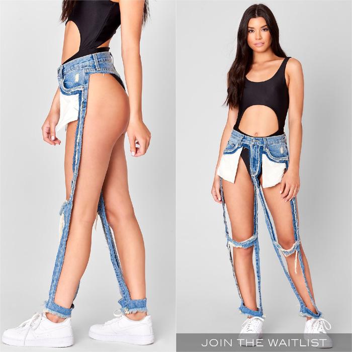 Chiếc quần jeans có mỗi... khóa kéo, giá bán 168 đôla - Ảnh 1.