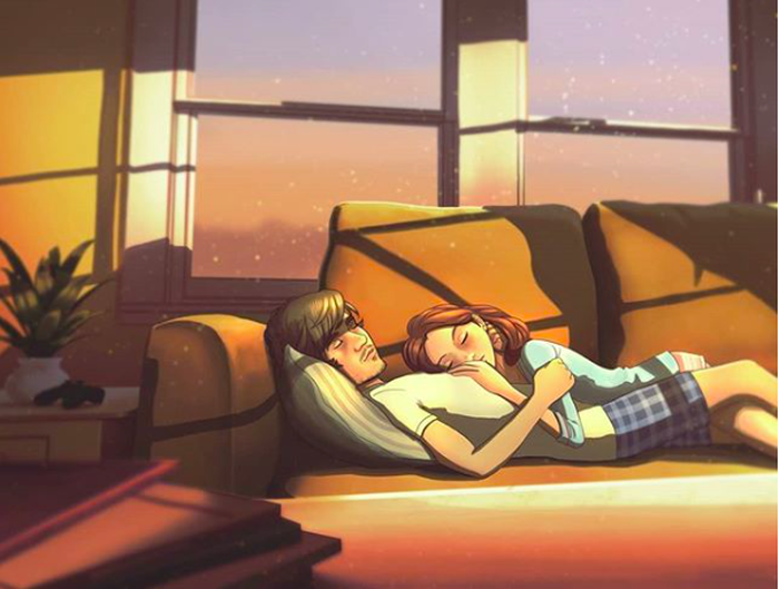 20 sắc thái tình yêu qua nét vẽ dễ thương của họa sĩ Anh - Ảnh 1.