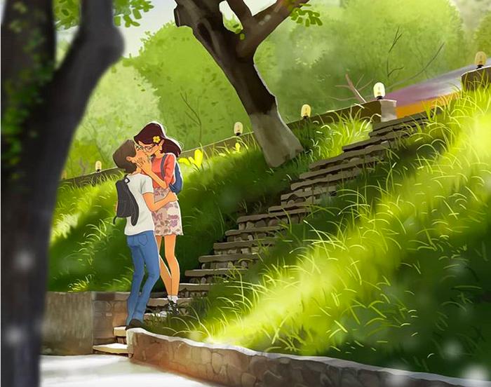 20 sắc thái tình yêu qua nét vẽ dễ thương của họa sĩ Anh - Ảnh 3.