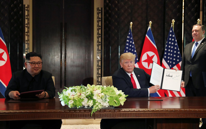 Toàn văn tuyên bố chung của ông Trump và ông Kim Jong Un - Ảnh 1.