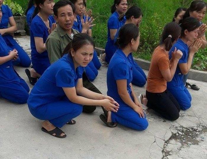 Trường bị dừng hoạt động, giáo viên đồng loạt quỳ xin xem xét - Ảnh 1.