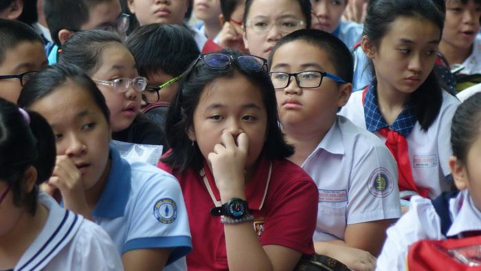 Hơn 4.000 học sinh thi vào lớp 6 Trường Trần Đại Nghĩa - Ảnh 12.