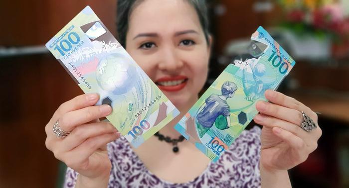 World Cup 2018 Tiền Nga 100 Rúp Polymer được săn lùng ở Sài Gòn