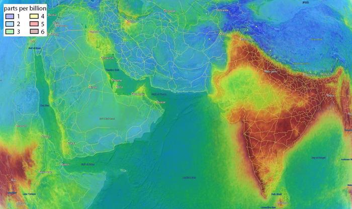 Bầu khí quyển Ấn Độ kỳ lạ nhìn từ không gian, chuyện gì xảy ra? - Ảnh 1.