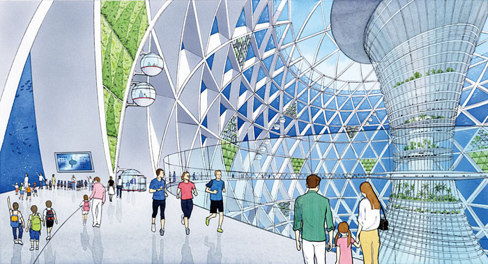 Ngắm đô thị 5.000 dân trong lòng đại dương vào năm 2030 - Ảnh 1.