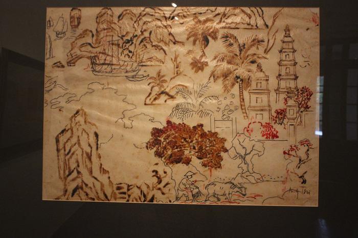 Ngắm những phác thảo lỡ hẹn 10 năm của họa sĩ Nguyễn Gia Trí - Ảnh 2.